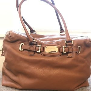 MK Luggage Brown Soft Leather Bag